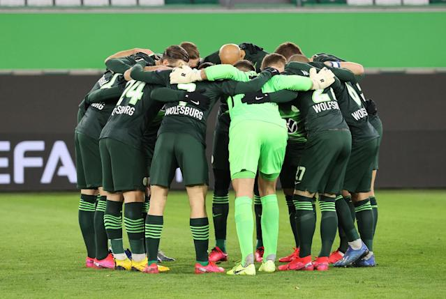 La squadra tedesca del Wolfsburg (Photo by Handout/VfL Wolfsburg via Getty Images)