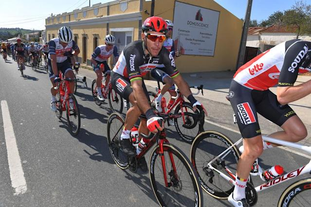 LAGOS PORTUGAL FEBRUARY 19 Philippe Gilbert of Belgium and Team Lotto Soudal during the 46th Volta ao Algarve 2020 Stage 1 a 1956km stage from Portimo to Lagos VAlgarve2020 on February 19 2020 in Lagos Portugal Photo by Tim de WaeleGetty Images