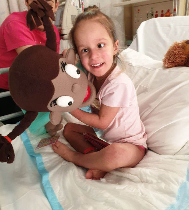 Zoe was diagnosed with NF1