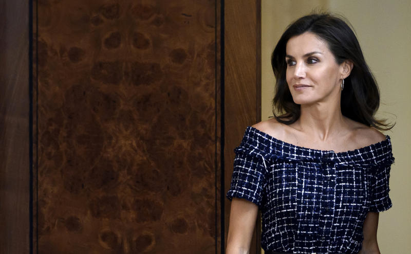 Queen Letizia of Spain just gave a lesson in high street dressing [Photo: Getty]