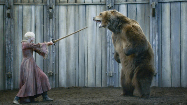 """Gwendoline Christie in the """"Game of Thrones"""" Season 3 episode, """"The Bear and the Maiden Fair."""""""