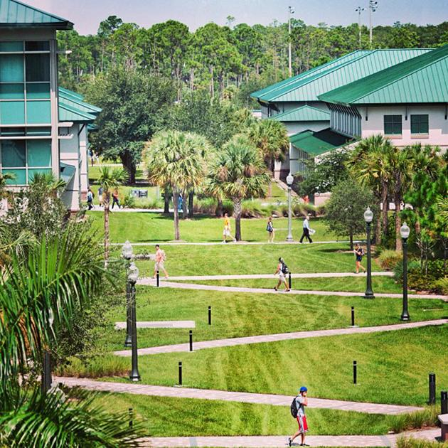 Our #beautiful #campus here at #FGCU! #headedtoclass #Southwestflorida