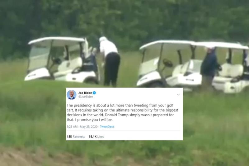 'I Care, Do You?': Trump Gets Panned for Playing Golf as Covid-19 Death Toll Nears 1 Lakh in US