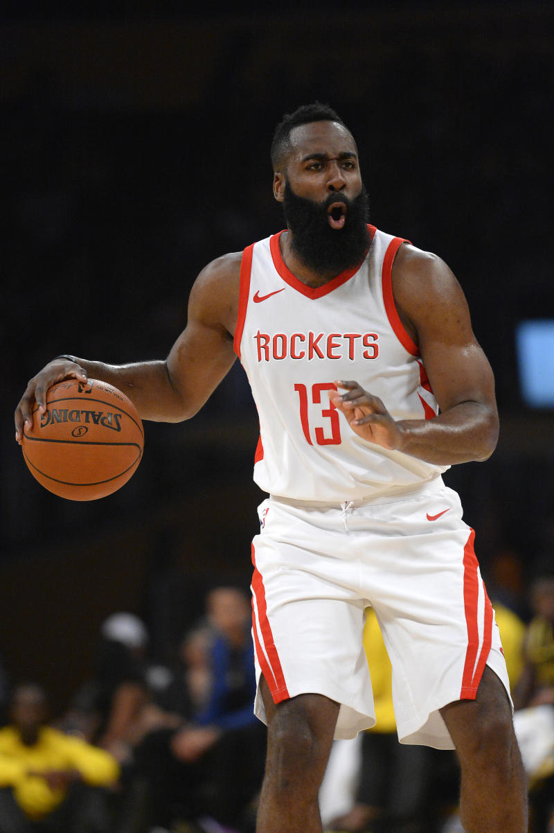 114b80acd06 Ingram makes NBA debut in Rockets  105-99 win over Lakers