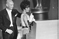 "<p><a href=""https://www.goodhousekeeping.com/life/entertainment/g2632/rare-photos-elizabeth-taylor/"" rel=""nofollow noopener"" target=""_blank"" data-ylk=""slk:Elizabeth Taylor"" class=""link rapid-noclick-resp"">Elizabeth Taylor</a> accepted her first Oscar for Best Actress for her role in <em><a href=""https://www.amazon.com/Butterfield-8-Elizabeth-Taylor/dp/B000LJ60T0/ref=sr_1_1?s=instant-video&ie=UTF8&qid=1547579034&sr=1-1&keywords=Butterfield+8&tag=syn-yahoo-20&ascsubtag=%5Bartid%7C10055.g.5132%5Bsrc%7Cyahoo-us"" rel=""nofollow noopener"" target=""_blank"" data-ylk=""slk:Butterfield 8"" class=""link rapid-noclick-resp"">Butterfield 8</a></em>.</p>"