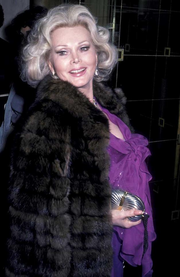 "February 6: Zsa Zsa Gabor turns 94 Ron Galella/<a href=""http://www.wireimage.com"" target=""new"">WireImage.com</a> - February 19, 1980"