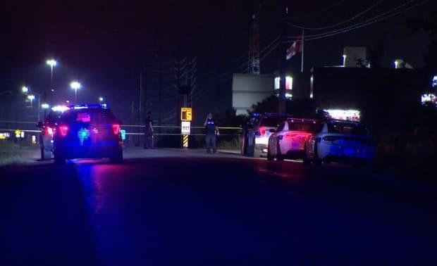 A spokesperson for Peel police said the victim was found dead in the driveway of a business. (Jeremy Cohn/CBC - image credit)