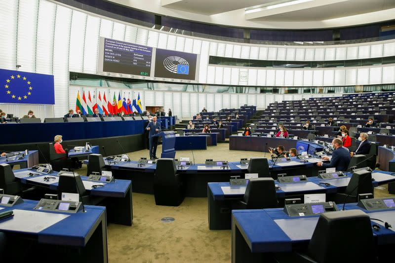 Plenary session at the European Parliament in Strasbourg