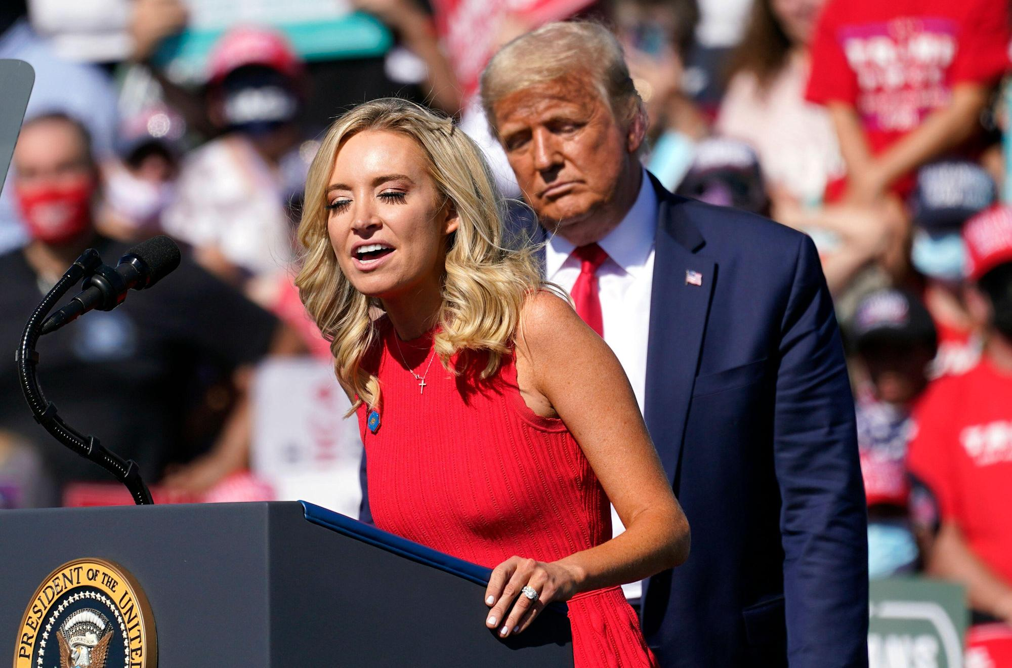 Kayleigh McEnany Breaks White House Whopper Record With MAGA Crowd Tally