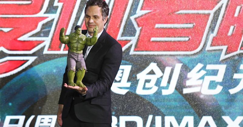 Actor Mark Ruffalo attends 'Avengers: Age of Ultron' premiere at Indigo Mall on April 19, 2015 in Beijing, China.
