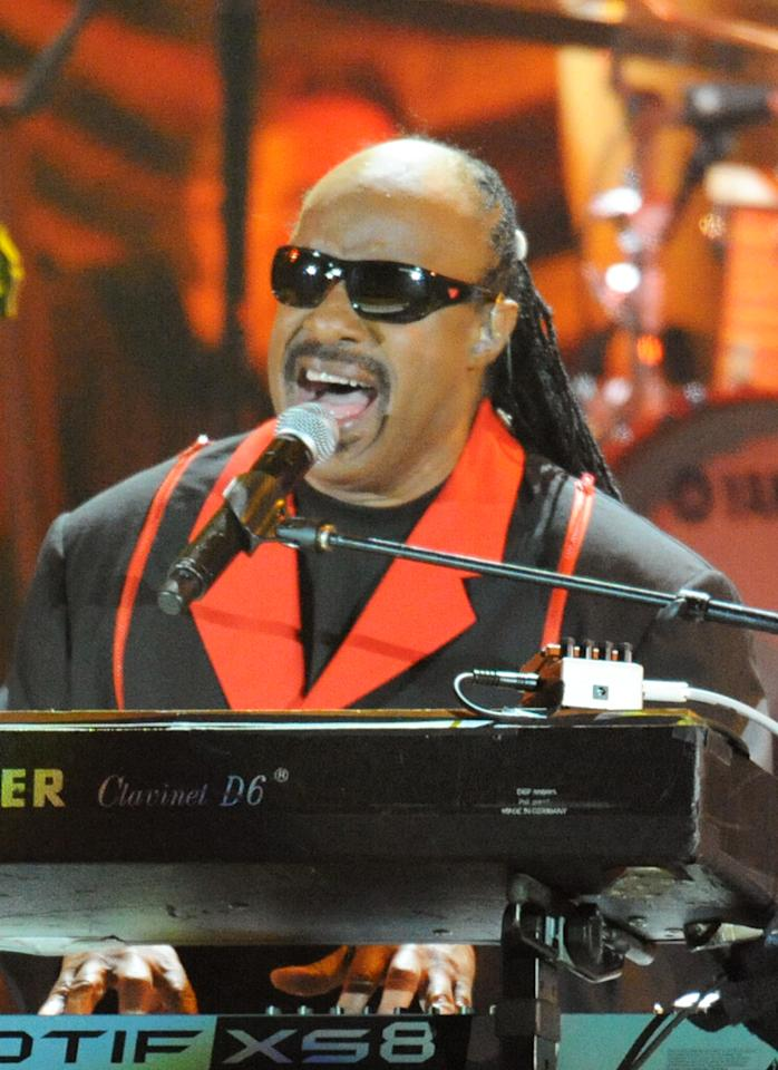 "Stevie Wonder performs at the ""A Decade of Difference"" concert on October 15, 2011, at the Hollywood Bowl, Los Angeles. <br><br>(Photo by Stephanie Cabral/Yahoo!)<br><br><a href=""http://news.yahoo.com/blogs/the-difference/video-watch-stevie-wonder-decade-difference-performance-162418616.html"">Watch Stevie Wonder's entire performance</a>"