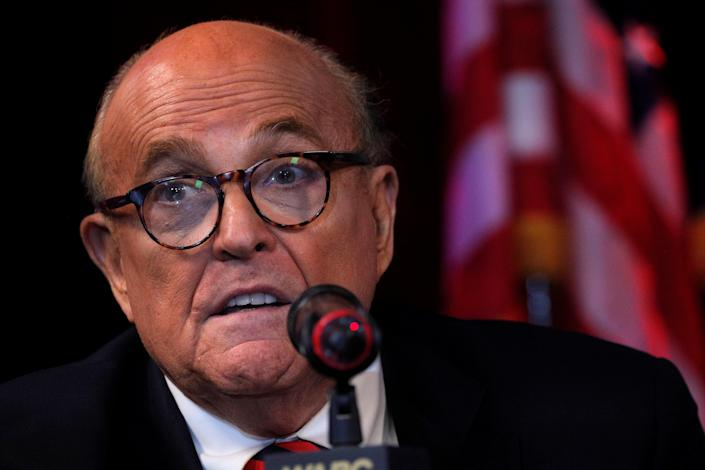 Former New York City mayor Rudy Giuliani has reportedly been banned from appearing on Fox News  (REUTERS)