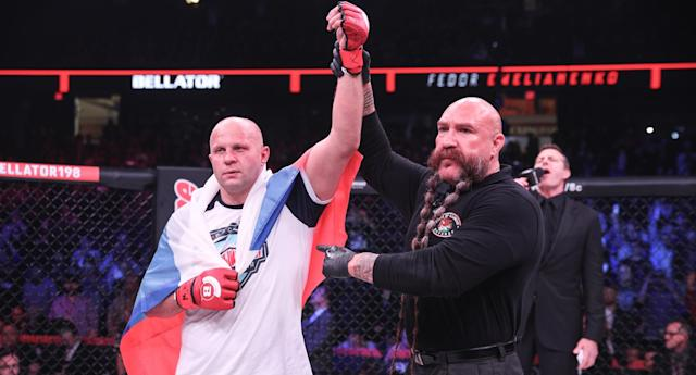 Fedor Emelianenko is two victories away from the Bellator Heavyweight Grand Prix title. (Photo courtesy of Bellator)