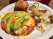 """<p><a href=""""https://www.yelp.com/biz/belgian-waffle-and-omelet-inn-midvale"""" rel=""""nofollow noopener"""" target=""""_blank"""" data-ylk=""""slk:Belgian Waffle & Omelet Inn"""" class=""""link rapid-noclick-resp"""">Belgian Waffle & Omelet Inn</a> in Midvale</p><p>Yelpers claim that the grub here is far and above the stuff they're serving IHOP or Denny's. Friendly servers recommend the garbage hash platter with eggs and toast.</p>"""