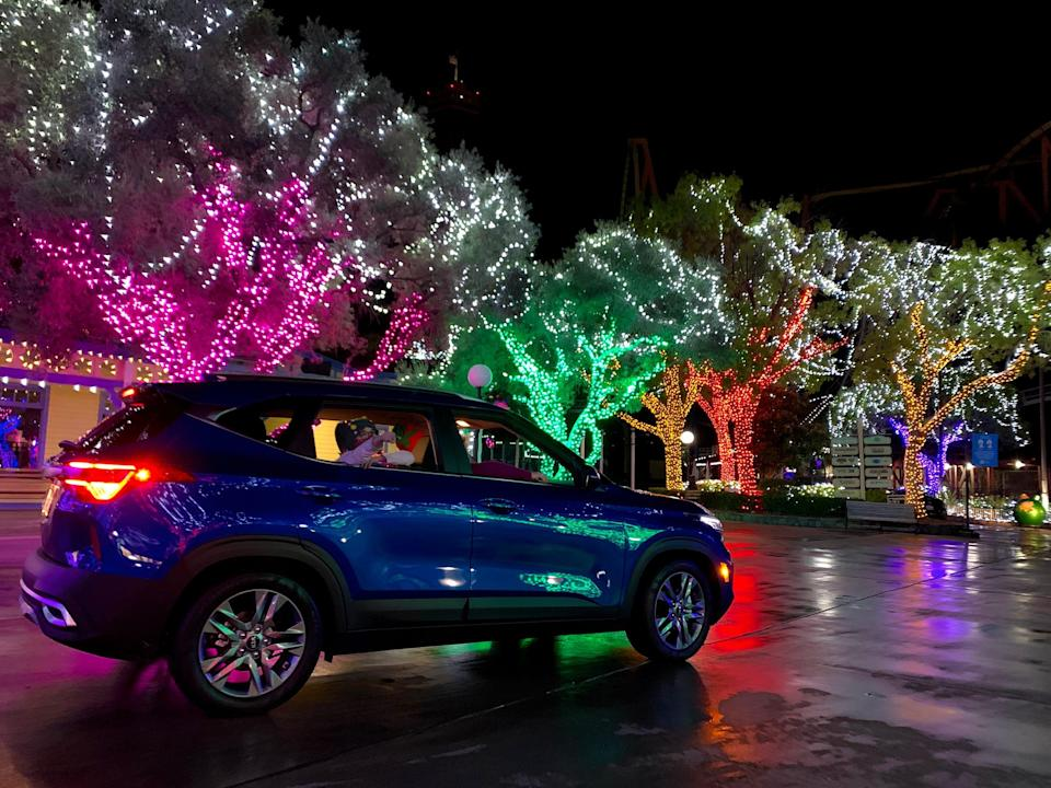 Six Flags Magic Mountain, located near Los Angeles, is extending its Holiday in the Park Drive-thru Experience on weekends through Jan. 31.