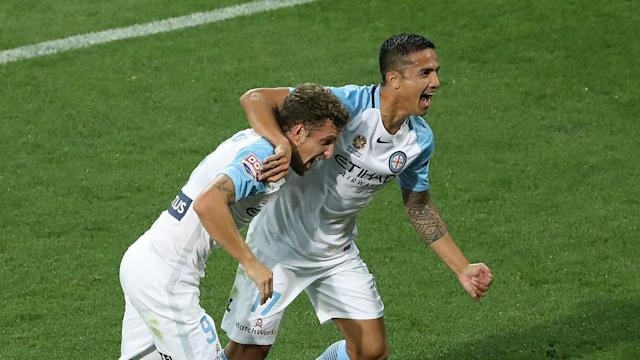 Melbourne City saw off Adelaide United 1-0 in a game of few chances thanks to a trademark header from veteran Australia star Tim Cahill.