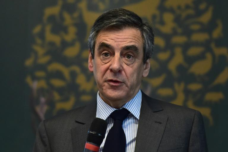 French presidential election candidate for the right-wing Les Republicains (LR) party Francois Fillon delivers a speech in Paris on March 14, 2017