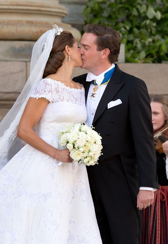 <p>After their 2013 wedding in Stockholm.</p>