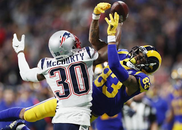 The Los Angeles Rams had no answers for the New England Patriots' defense in Super Bowl LIII. (Getty Images)