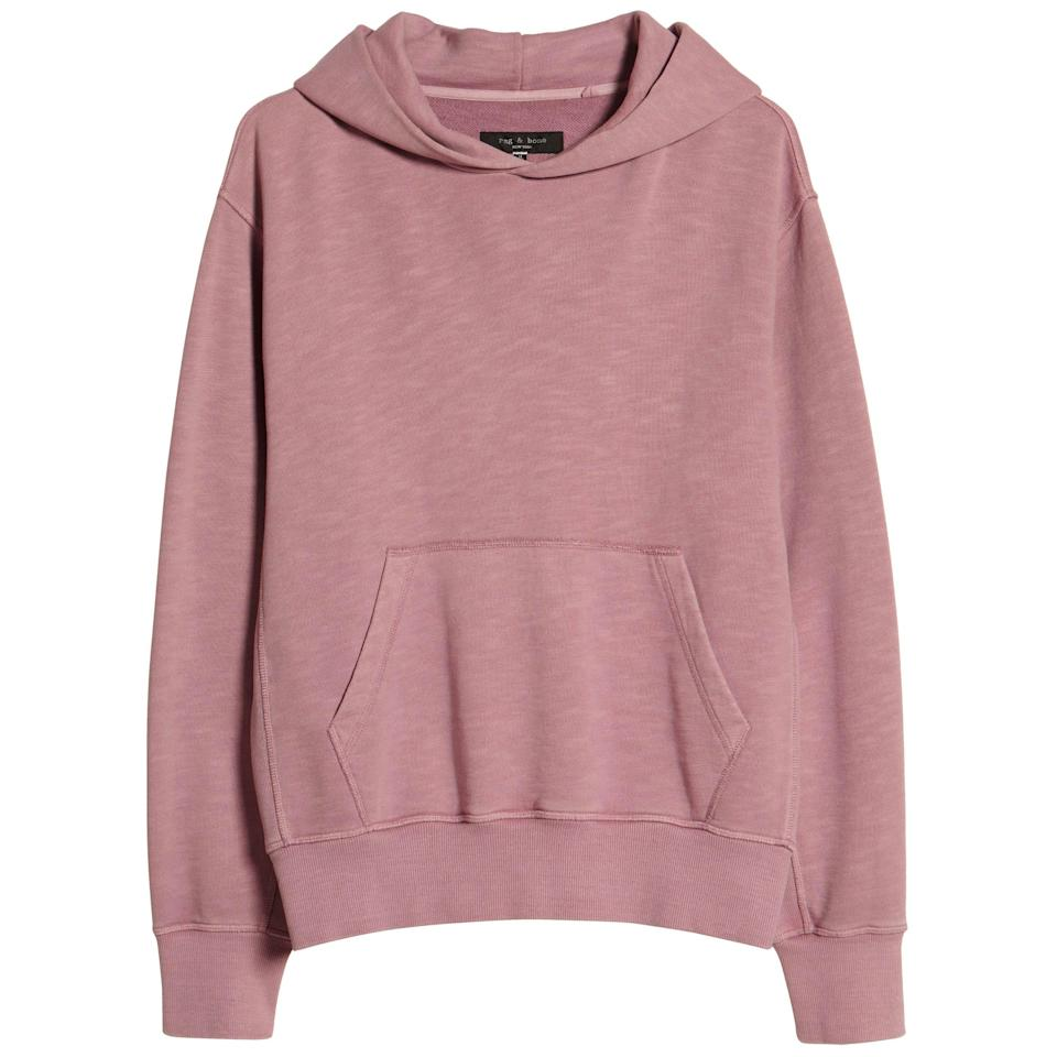 """<p><strong>Rag & Bone</strong></p><p>nordstrom.com</p><p><a href=""""https://go.redirectingat.com?id=74968X1596630&url=https%3A%2F%2Fwww.nordstrom.com%2Fs%2Frag-bone-damon-garment-dyed-hoodie%2F5764667&sref=https%3A%2F%2Fwww.esquire.com%2Fstyle%2Fmens-fashion%2Fg35967248%2Fnordstrom-mens-sale-march-2021%2F"""" rel=""""nofollow noopener"""" target=""""_blank"""" data-ylk=""""slk:Shop Now"""" class=""""link rapid-noclick-resp"""">Shop Now</a></p><p><strong><del>$275.00</del> $206.25 (25% off)</strong></p><p>If early spring could be a hoodie, it would be this hoodie.</p>"""