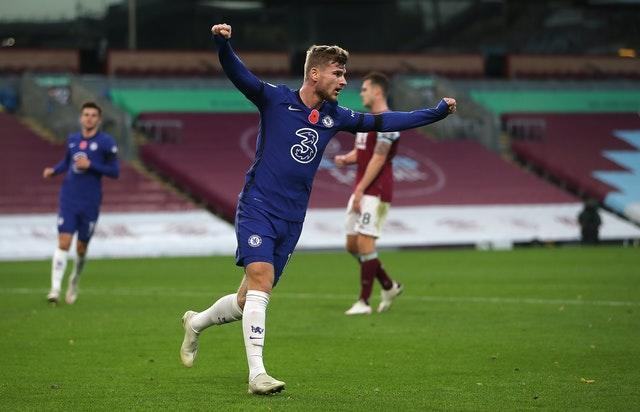 Timo Werner was also on the scoresheet at Turf Moor