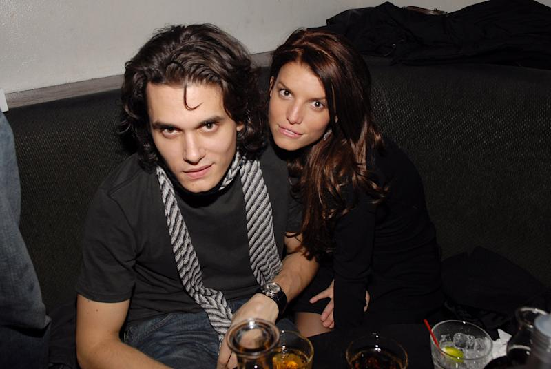 John Mayer and Jessica Simpson at the Stereo in New York City, New York (Photo by Kevin Mazur/WireImage)