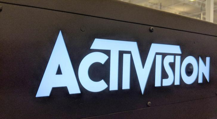 the Activision (ATVI) logo on a wall