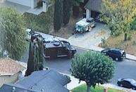 LASD SEB members arrive at nearby residence following up on leads after school shooting in Santa Clarita, California