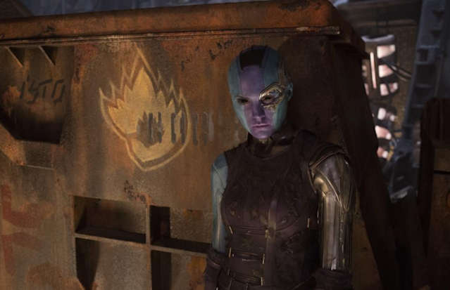 Nebula (Karen Gillan) strikes a surly pose in <i>Vol. 2</i>. (Photo: Marvel Studios)