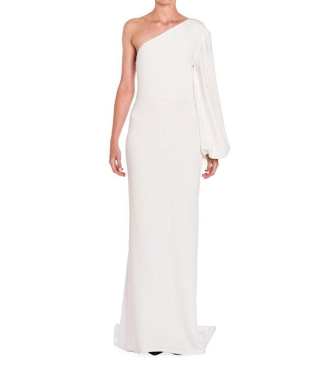 "<p>One-Sleeve Column Gown, $1,890, <a href=""https://www.saksfifthavenue.com/main/ProductDetail.jsp?PRODUCT%3C%3Eprd_id=845524447163351&R=888489624098&P_name=Stella+McCartney&N=306636181&FOLDER%3C%3Efolder_id=2534374306636181&bmUID=mf3JnTx"" rel=""nofollow noopener"" target=""_blank"" data-ylk=""slk:saksfifthavenue.com"" class=""link rapid-noclick-resp"">saksfifthavenue.com</a> </p>"