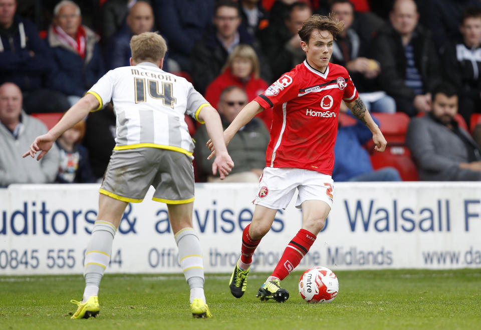 Kinsella's brother Liam (R) plays for League Two side Walsall, but she insists gymnastics is harder (Picture: Action Images / Ian Smith)