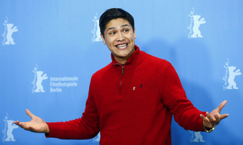 Actor Johnny Ortiz poses during a photocall to promote the movie 'Soy Nero' at the 66th Berlinale International Film Festival in Berlin, Germany, February 16, 2016. REUTERS/Hannibal Hanschke