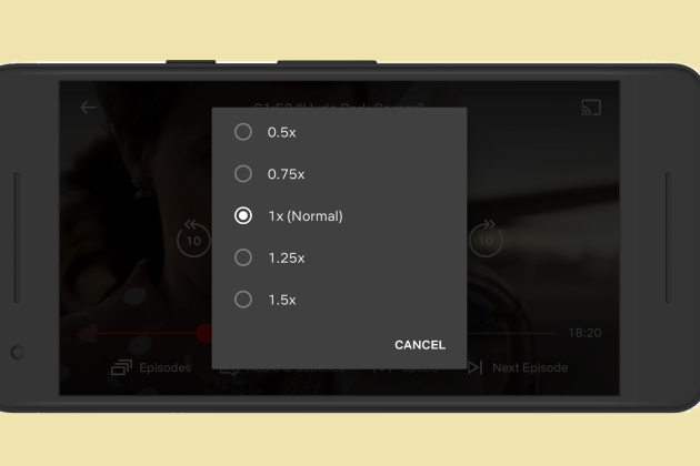 Netflix Launches Variable-Speed Playback on Android Mobile App