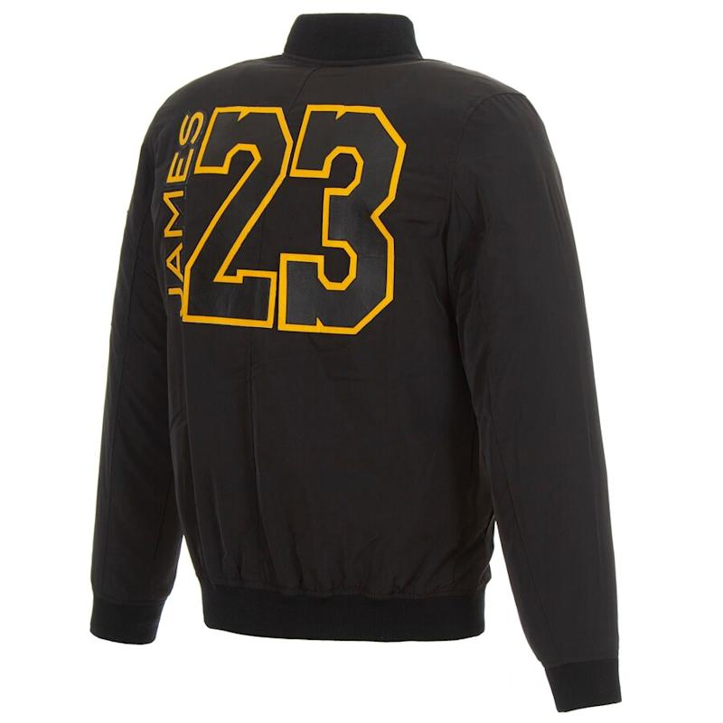 Lakers James Fanatics Full-Zip Bomber Jacket