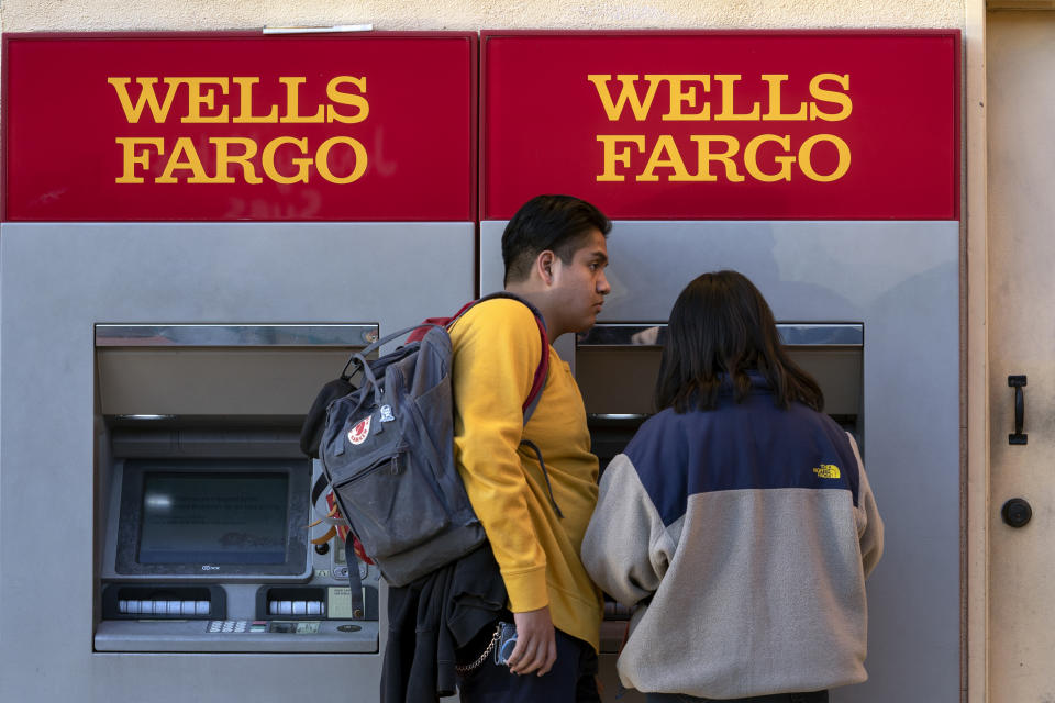 LOS ANGELES, CA, UNITED STATES - 2019/02/07: Clients seen using an ATM at the Wells Fargo Bank in Los Angeles, California. (Photo by Ronen Tivony/SOPA Images/LightRocket via Getty Images)