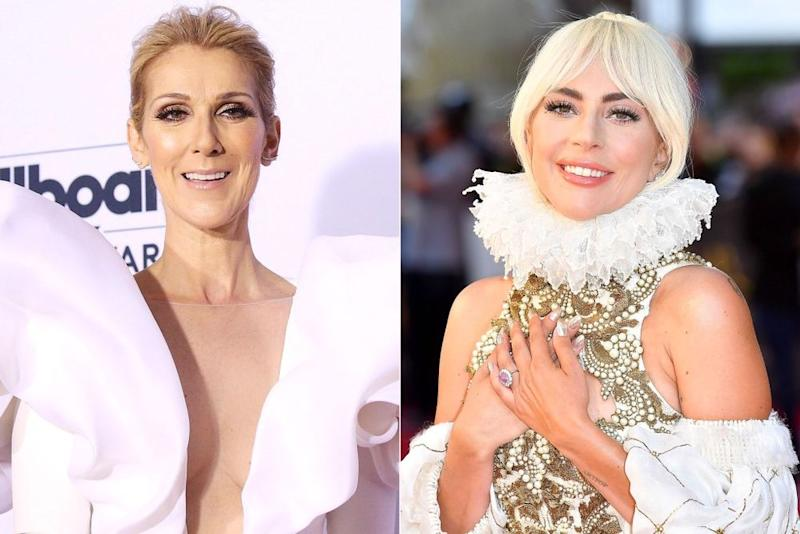 Céline Dion; Lady Gaga | Michael Tran/FilmMagic; Jeff Spicer/Getty Images