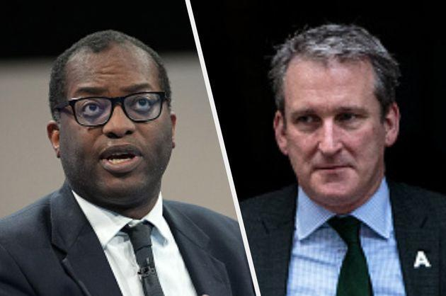Damian Hinds (R) defended Kwasi Kwarteng on Monday (Photo: Getty)