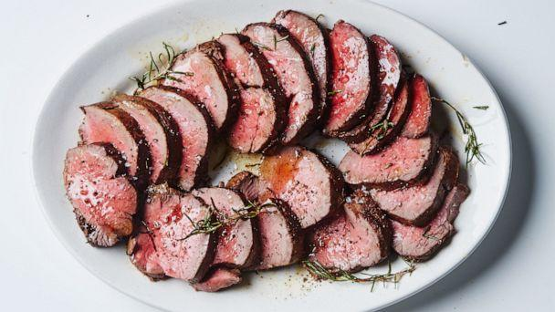 PHOTO: Roast Beef Tenderloin with Garlic and Rosemary. (Alex Lau, Bon Appetit)