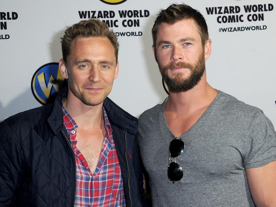tom hiddleston chris hemsworth