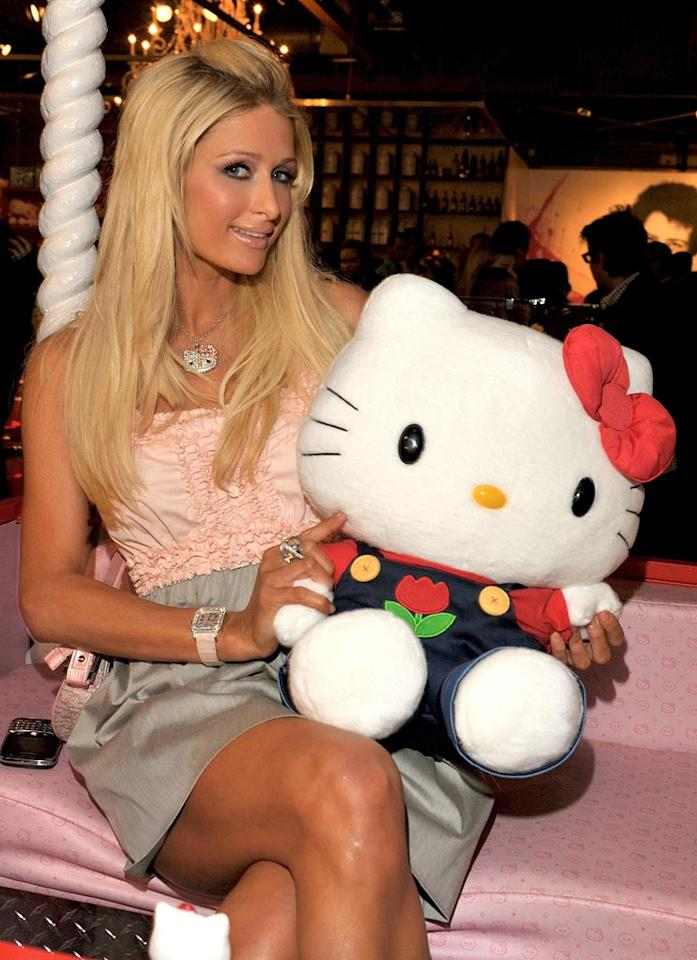 """Everyone knows that Paris is a huge Hello Kitty fan. The hotel heiress told E! News, """"Half of my room is covered with Hello Kitty!"""" Lester Cohen/<a href=""""http://www.gettyimages.com/"""" target=""""new"""">GettyImages.com</a> - October 22, 2009"""