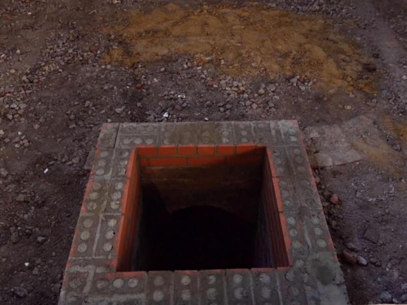 Builders discovered the entrance to the tomb under concrete slabs (Garden Museum)
