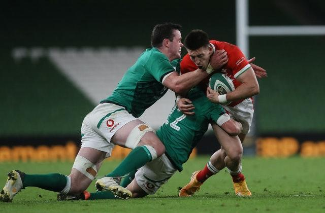 James Ryan, left, captained Ireland during their victory over Wales