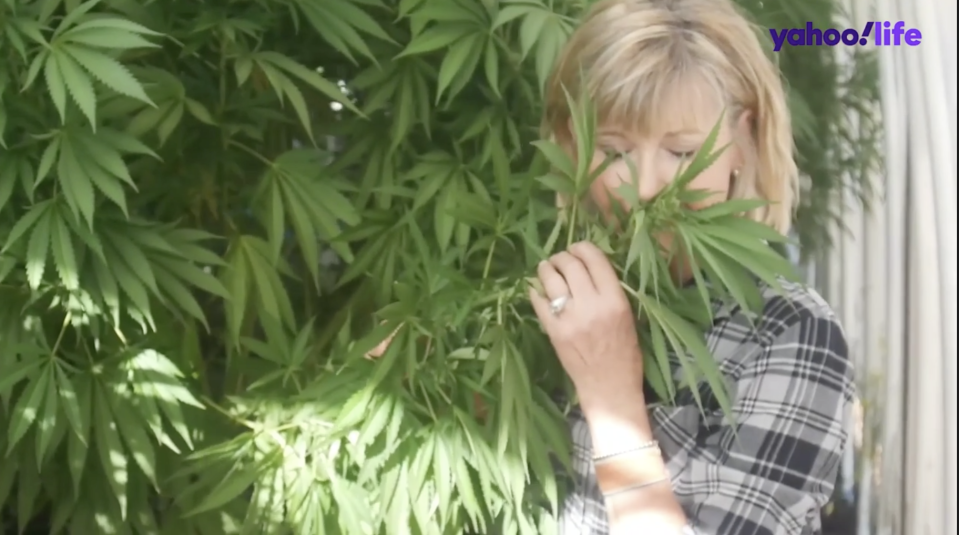 Olivia Newton-John is an advocate of plant therapies, especially when it comes to the benefits of cannabis. (Photo: Yahoo Life)