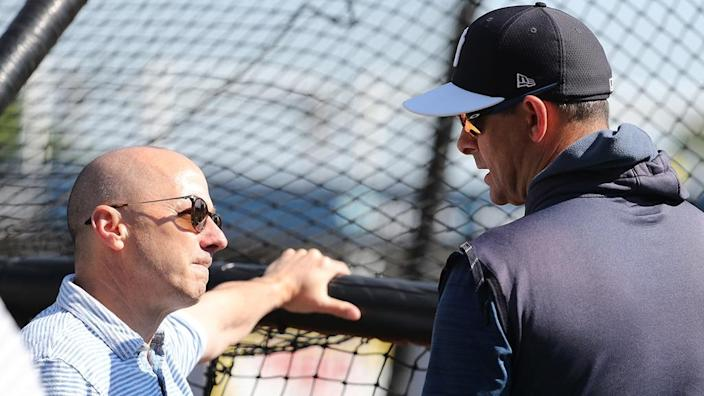 Cashman and Boone in spring training
