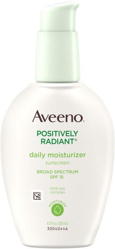 """<h2>Aveeno Positively Radiant Daily Moisturizer SPF 15<br></h2><br>This affordable option from Aveeno contains soy extract and a light-diffusing finish to make skin look smooth and even. (Just be sure to reapply often, since SPF 15 is on the lower end of the protection spectrum.)<br><br><strong>Aveeno</strong> Positively Radiant Daily Moisturizer SPF 15, $, available at <a href=""""https://go.skimresources.com/?id=30283X879131&url=https%3A%2F%2Fwww.ulta.com%2Fp%2Fpositively-radiant-daily-moisturizer-spf-15-xlsImpprod510138"""" rel=""""nofollow noopener"""" target=""""_blank"""" data-ylk=""""slk:Ulta Beauty"""" class=""""link rapid-noclick-resp"""">Ulta Beauty</a>"""