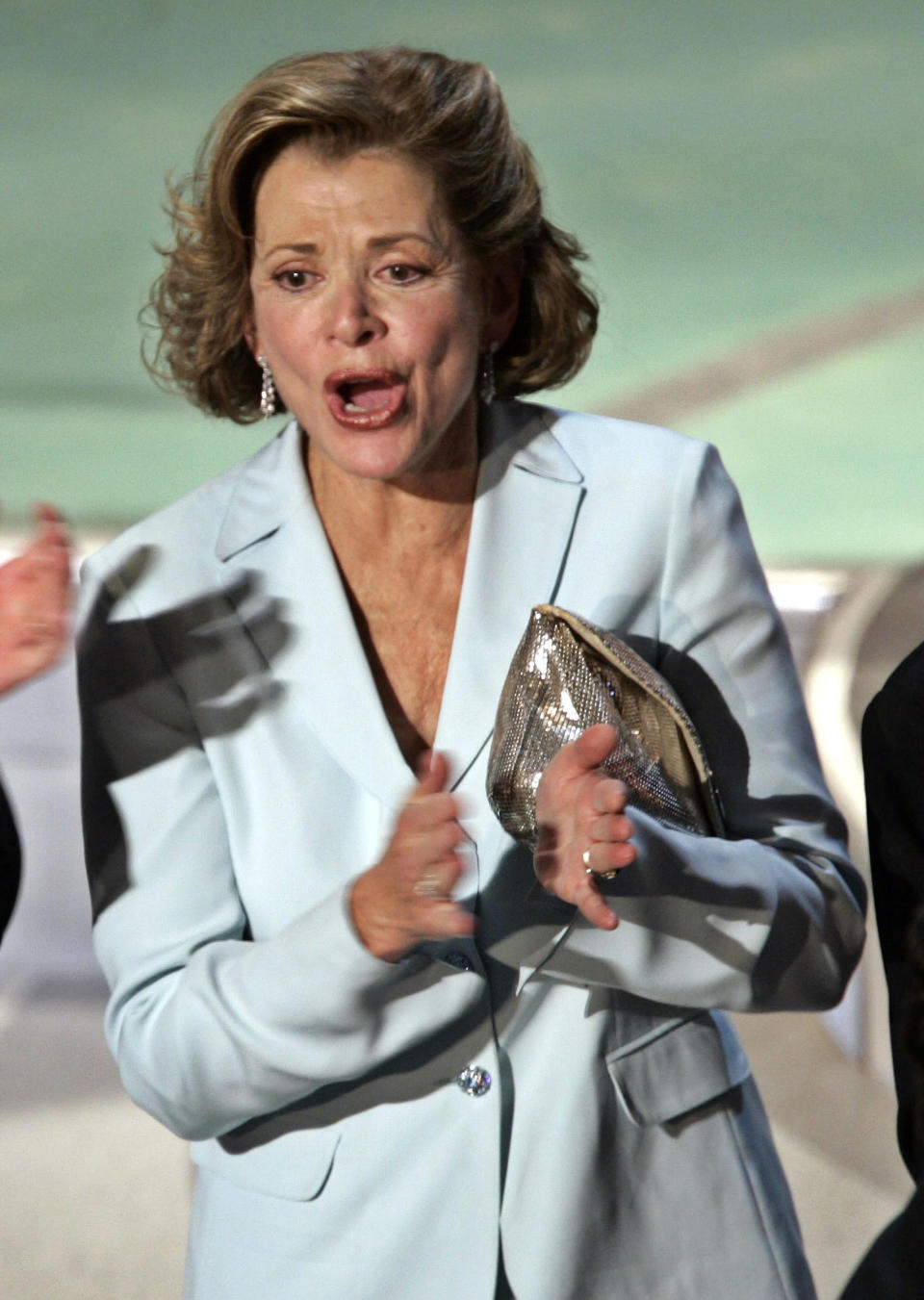 "FILE - Actress Jessica Walter applauds after ""Arrested Development"" wins for outstanding comedy series during the 56th Annual Primetime Emmy Awards on Sept. 19, 2004, in Los Angeles. Walter, who played a scheming matriarch in the television series, has died. She was 80. Walter's death was confirmed Thursday, March 25, 2021, by her daughter, Brooke Bowman. The actor's best-known film roles included playing the stalker in Clint Eastwood's 1971 thriller, ""Play Misty for Me."" (AP Photo/Kevork Djansezian, File)"