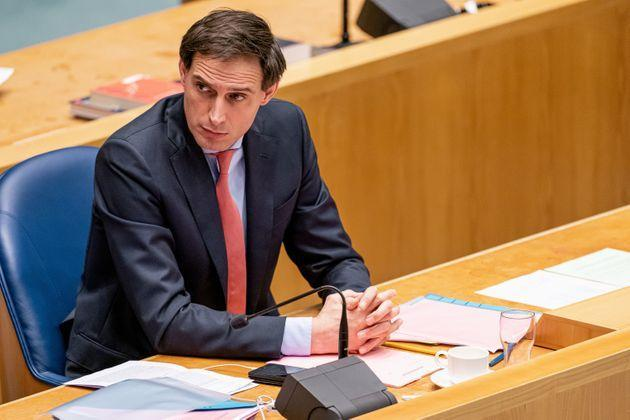 THE HAGUE, NETHERLANDS - JANUARY 19: Minister of Finance Wopke Hoekstra seen during the plenary debate in the Tweede Kamer parliament about the resignation of the Rutte administration on January 19, 2021 in The Hague, Netherlands. (Photo by Jeroen Meuwsen/BSR Agency/Getty Images) (Photo: BSR Agency via Getty Images)