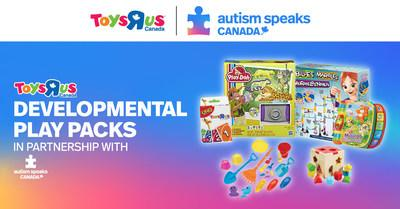 Toys R Us Canada in partnership with Autism Speaks Canada is proud to launch play packs, designed to encourage developmental milestones for children with autism. (CNW Group/Autism Speaks Canada)