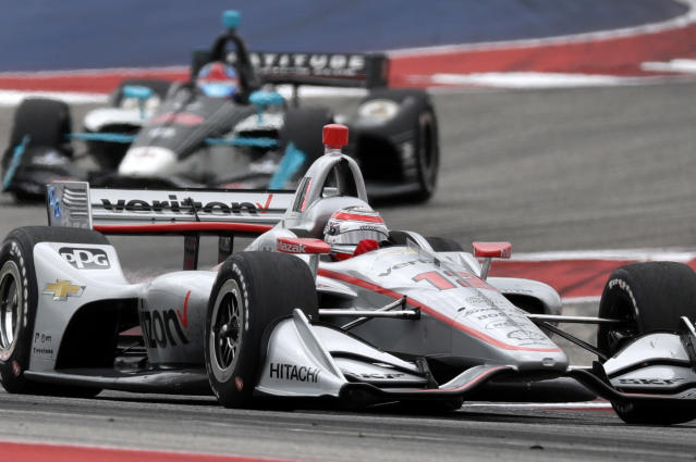 Will Power (12), of Australia, works through a turn during the IndyCar Classic auto race, Sunday, March 24, 2019, in Austin, Texas. (AP Photo/Eric Gay)