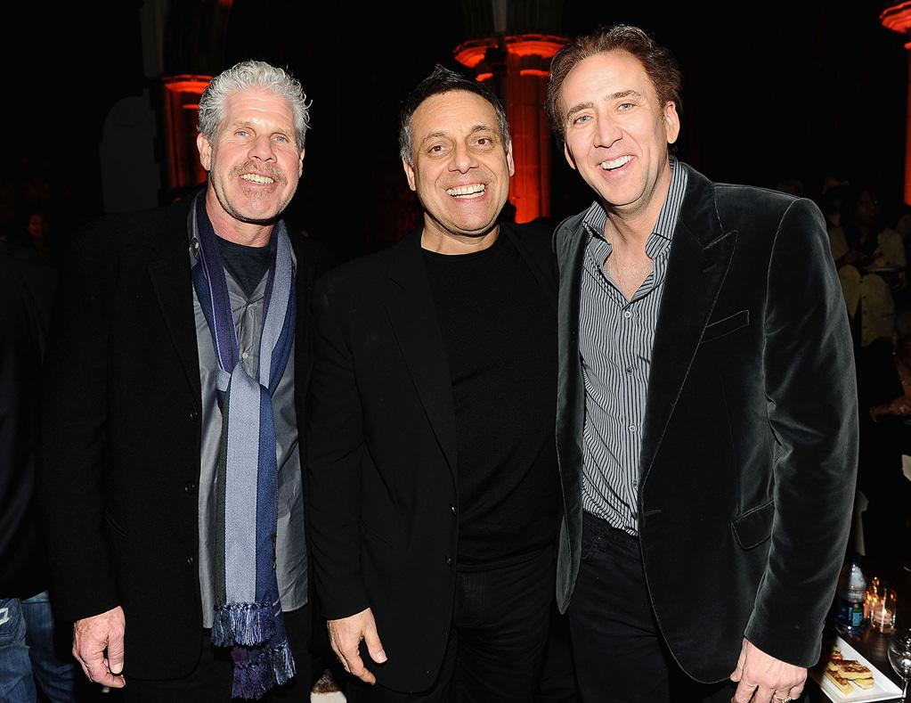 """<a href=""""http://movies.yahoo.com/movie/contributor/1800019724"""">Ron Perlman</a>, <a href=""""http://movies.yahoo.com/movie/contributor/1800193432"""">Dominic Sena</a> and <a href=""""http://movies.yahoo.com/movie/contributor/1800018581"""">Nicolas Cage</a> at the New York City premiere of <a href=""""http://movies.yahoo.com/movie/1810055815/info"""">Season of the Witch</a> on January 4, 2010."""